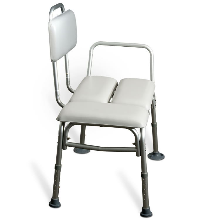 AMG Padded Tub Transfer Bench w. Suction Cups side