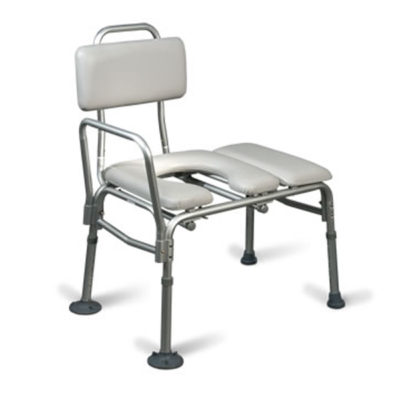 Aquasense Padded Transfer Bench w Commode Opening